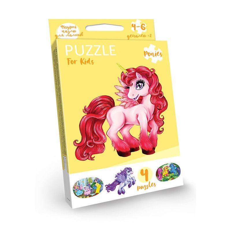 """Развивающие пазлы """"Puzzle For Kids"""" PFK-05-12 (Единорог красный)"""