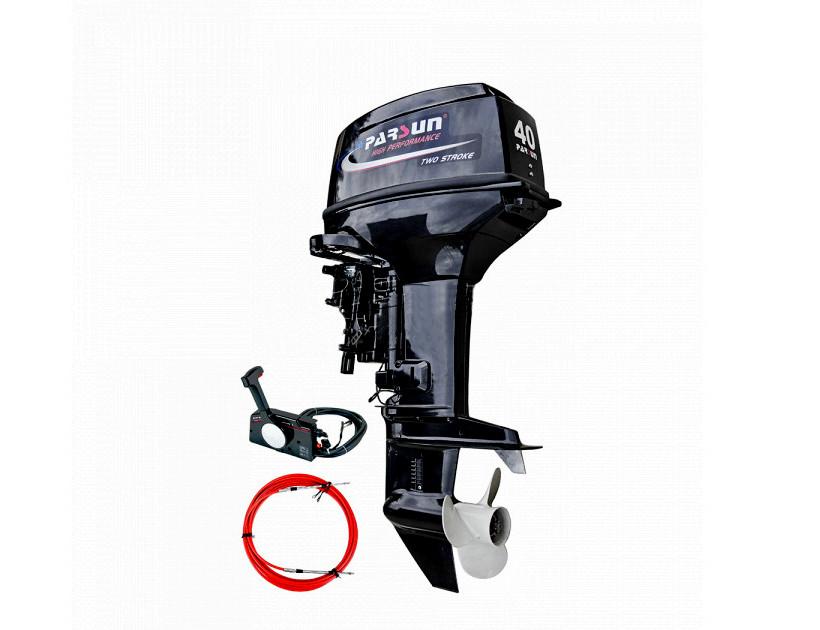 Лодочный мотор 40 л.с. Parsun бензиновый T40FWS-T (40 л.с. короткий дейдвуд,  стартер, д/у, эндуро, трим)