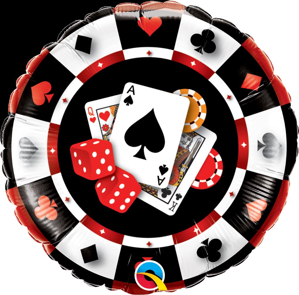"""Q 18"""" Casino $ Pkg. Фольгированный шар Казино"""
