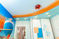 Матовый натяжной потолок в детской, фото 1