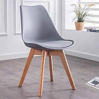 Современный стул из натурального дерева (Бук) Bonro B-487 COOL GREY 9U