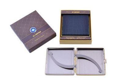 Портсигар в подарочной упаковке GVIPAI (Кожа, на 20 шт) №XT-4986-5