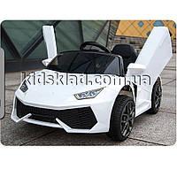 Детская машина на аккумуляторе Lamborghini (2 мотора по 30W, 2 аккум, MP3) Baby Tilly T-7655 EVA WHITE