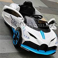 Детская машина на аккумуляторе Bugatti (2 мотора по 18W, MP3, функция качания) Baby Tilly T-7657 EVA WHITE
