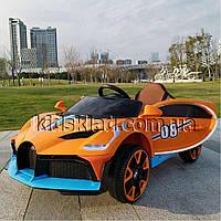 Детская машина на аккумуляторе Bugatti (2 мотора по 18W, MP3, функция качания) Baby Tilly T-7657 EVA ORANGE
