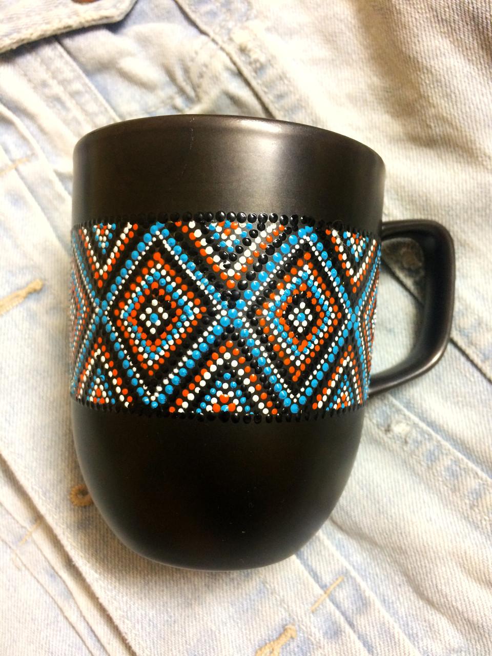 «Орнамент » Чашка с точечной росписью