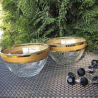 Набор салатников с золотой полосой Гусь-Хрустальный Ампир 2 шт (EAV79-1542), фото 1