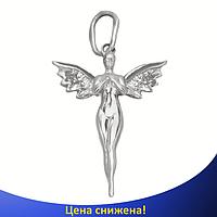 """Срібний кулон """"Ангел"""" - Ангел з срібла, зроблений у вигляді підвіски., фото 1"""