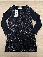 Нарядне плаття для дівчаток з паєтками 104 - 152 зростання