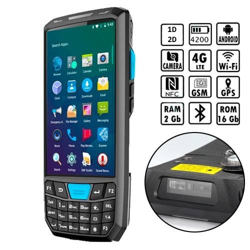 "Терминал сбора данных 2D ТСД 035 4.5"" Helio A22 2/16ГБ 4G Android Newland + док-станция"