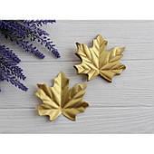 Листья клена маленькие  , золотые      50 шт