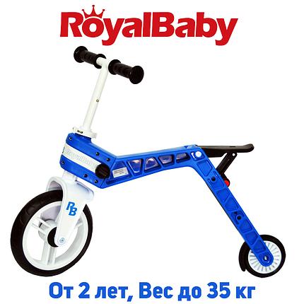 Беговел-самокат детский Real Baby, синий, фото 2