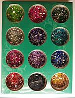 Камені для дизайну нігтів, 12 кольорів