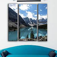 Интернет магазин модульных картин. Современная модульная картина для интерьера - лазурное озеро