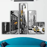 Интернет магазин модульных картин. Современная модульная картина для интерьера - улицы Нью-Йорка живопись