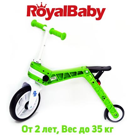 Беговел-самокат детский Real Baby, зеленый, фото 2