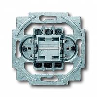 Механизм выключателя 1-кл. 2-полюсного Проходного ABB Busch Jaeger (2000/6/2 US)