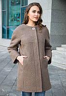 Женское шерстяное пальто оверсайз на осень-весну, фото 1