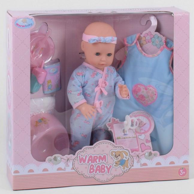 Пупс интерактивный кукла 40 см 7 функций аксессуары Warmbaby WZJ 026 E-2