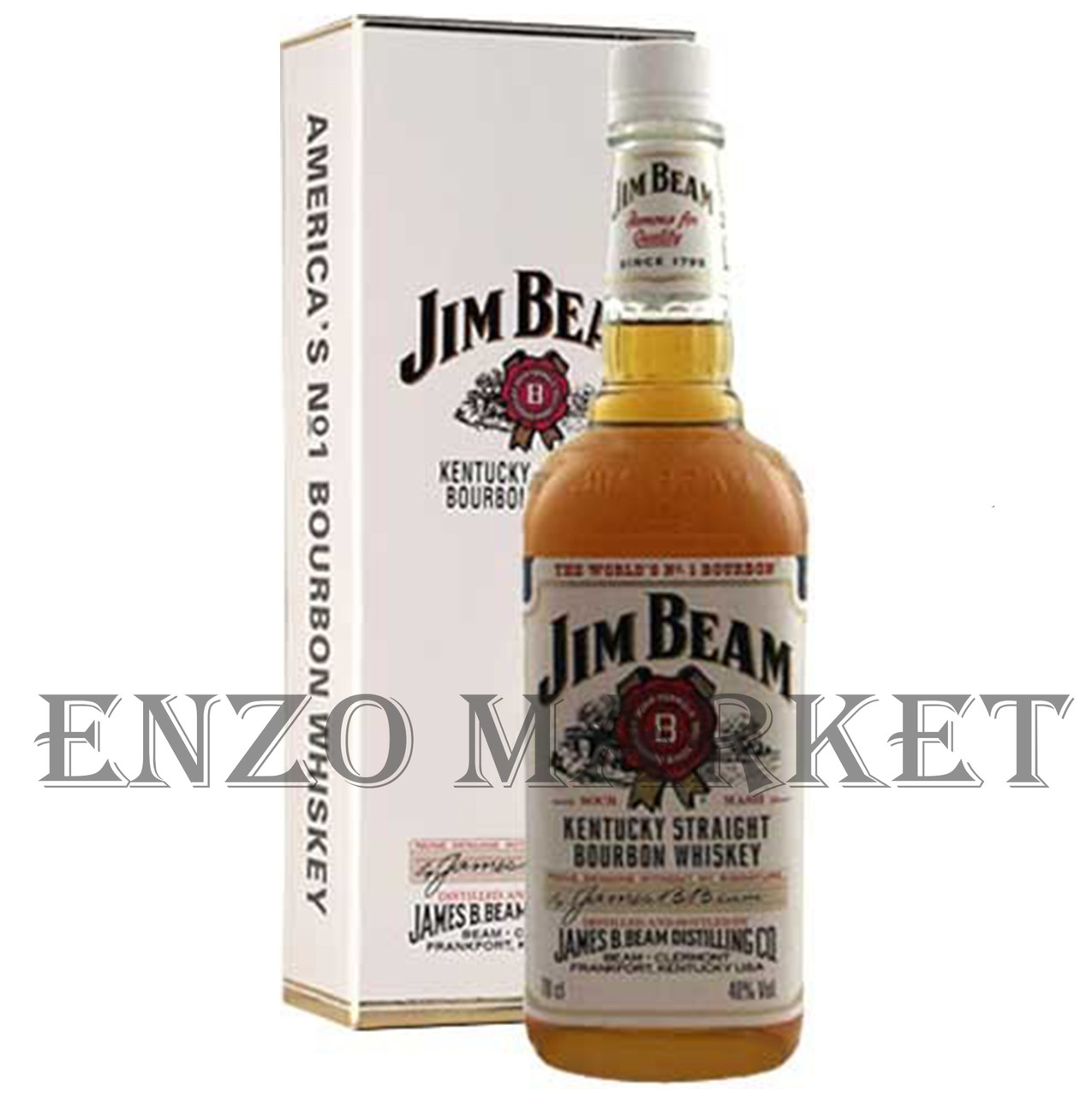 Виски Jim Beam (Джим Бим в коробке) 40%, 1 литр