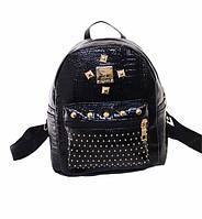 Рюкзак женский с декором черный, фото 1