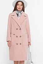 Красиве жіноче пальто з вовни, прямого силуету мерехтливої кольору, розмір від 42 до 54, фото 2
