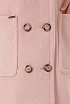 Красиве жіноче пальто з вовни, прямого силуету мерехтливої кольору, розмір від 42 до 54, фото 3