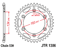 Звезда задняя JT Sprockets JTR1306.42, фото 1