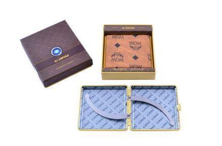 Портсигар в подарочной упаковке GVIPAI (Кожа, на 20 шт) №XT-4979-6