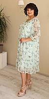 Легкое воздушное женское платье в растительные узоры