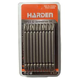 Набор бит отверточных двухсторонних PH2X100mm Harden Tools 550604