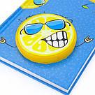 Блокнот Kite Lemon K20-285-1 твердая  обложка, сквиш, А6, 80 л., точка, фото 3