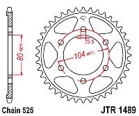 Звезда задняя JT Sprockets JTR1489.41, фото 1