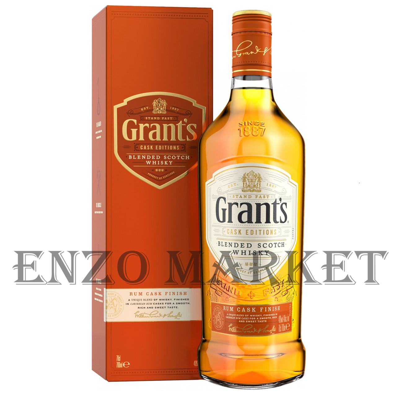 Виски Grant's Rum Cask (Грантс Ром Каск) 40%, 1 литр