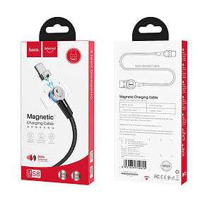 Кабель Hoco S8 Magnetic charging cable for Type-C Black