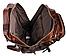 Рюкзак трансформер 2 в 1 кожаный Vintage 20207 Коричневый, фото 7
