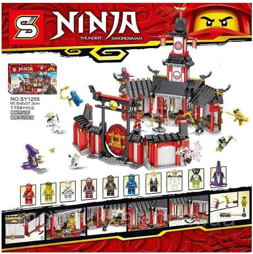 """Конструктор Senco, """"Ниндзя - Монастырь Кружитцу"""", фигурки, 1154 деталей, SY1255"""