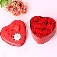 Подарочный набор - розы из мыла любимой, сувенирное ароматизированное мыло в виде роз с доставкой, фото 1