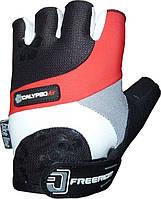 Велоперчатки женские Power System CALYPSO Серый Красный