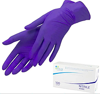 Нитриловые перчатки Polix Violet S