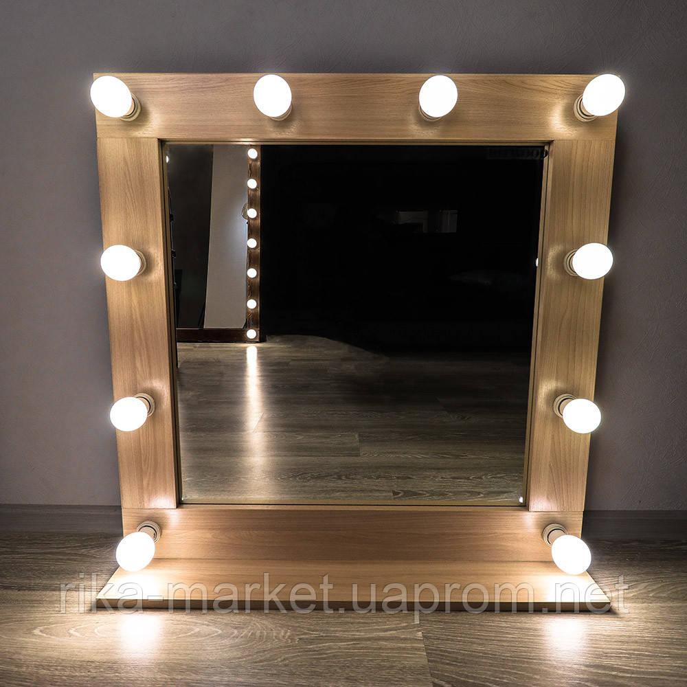 Красивое зеркало 800*800 дуб санома