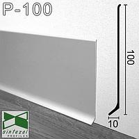 Високий алюмінієвий плінтус для підлоги Sintezal, 100х10х2500мм. Анодований.