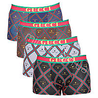 Мужские трусы Gucci 4 штуки набор хлопок