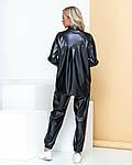 Женский костюм, экокожа, р-р 42; 44; 46; 48 (чёрный), фото 2