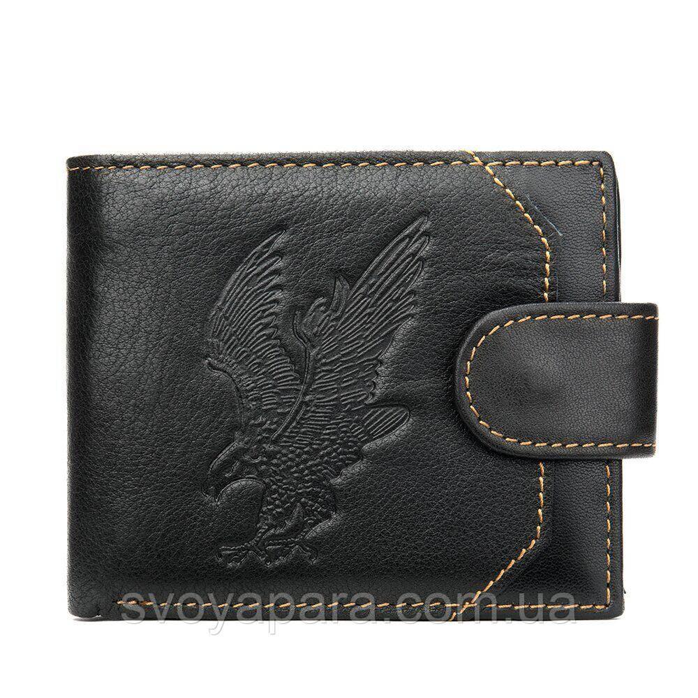 Портмоне мужское кожаное с орлом 20232 Vintage Черное