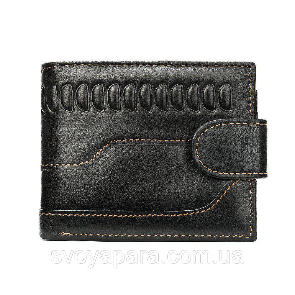 Мужской кошелек с тиснением 20234 Vintage Черный