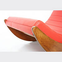"""Кресло качалка """"Elit"""" классик, экокожа красный"""