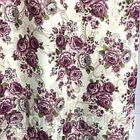 Комплект штор с цветочным принтом  150x270 cm (2 шт) ALBO Фиолетовые (SH-631-7), фото 5