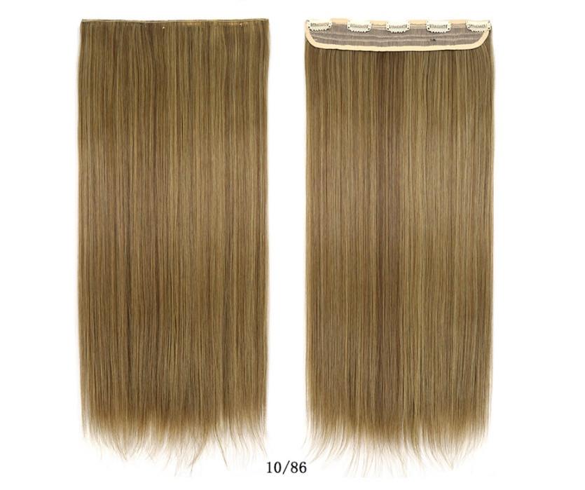 Накладные волосы  на клипсах,трессы 60 см цвет тёплая мелировка