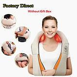 Роликовий масажер для шиї і плечей з ІЧ-прогріванням Massager of Neck Kneading, фото 3